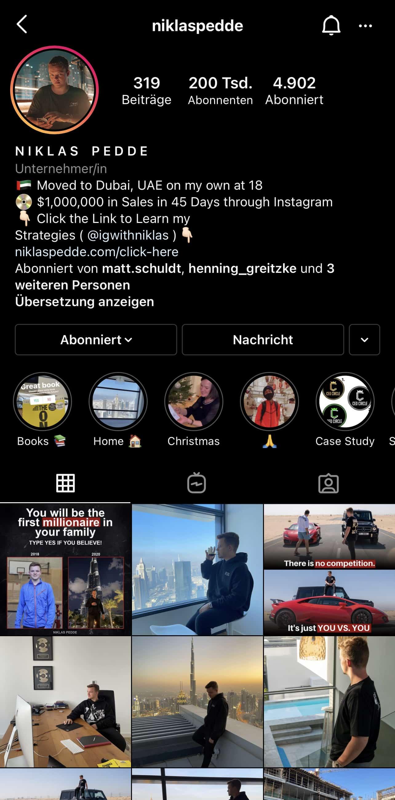 Niklas Pedde Instagram Account AVR-Formula