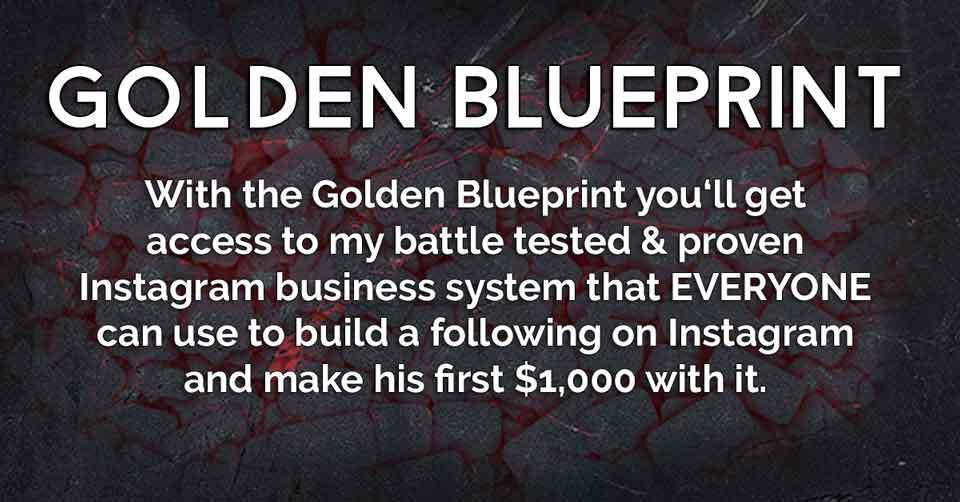 Instagram University Golden Blueprint Moduke