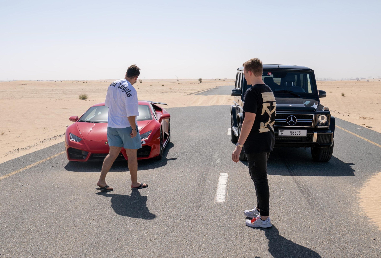 Niklas Pedde Dubai Desert Cars Lamborghini Mercedes scaled