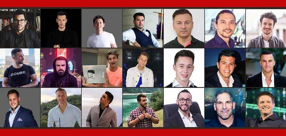 Niklas Pedde Instagram University 3.0 Collage of Businesspartners faces