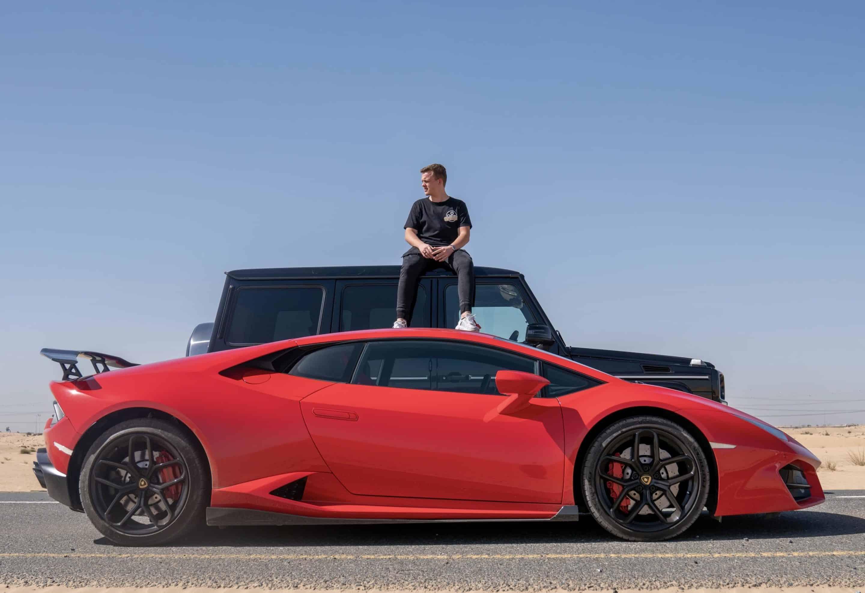 Niklas Pedde Lamborghini Huracan Desert Dubai scaled