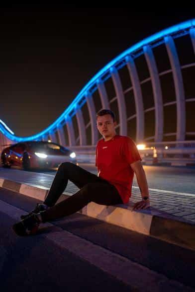 Niklas Pedde Meydan Bridge Dubai Lamborghini Dark